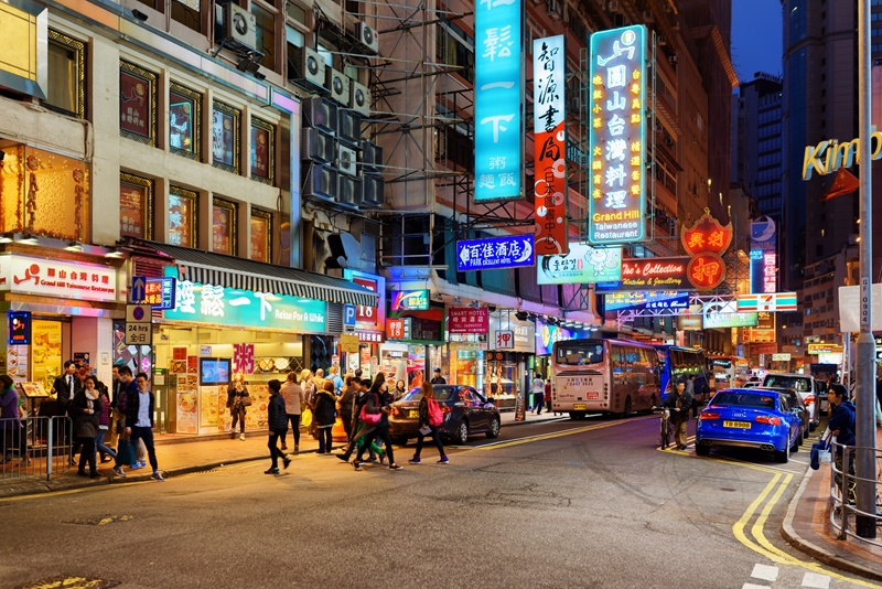 Around the holidays, Hong Kong's streets buzz with activity.