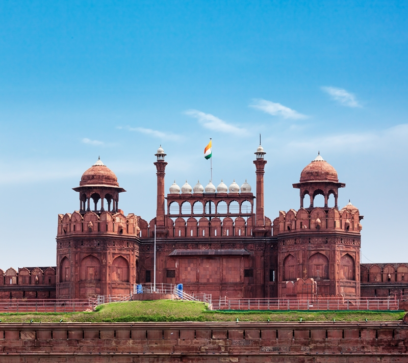 The Red Fort is beautiful and impressive.